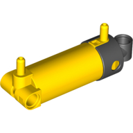 Набор LEGO Pneumatic Cylinder with 2 Inlets and Rounded End Medium (48mm), Желтый