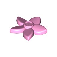 Набор LEGO Friends Hair Decoration, Flower with Pointed Petals and Pin, Medium Lavender