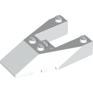 Набор LEGO Wedge 6 x 4 Cutout with Stud Notches, Белый