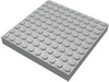 Набор LEGO Brick 10 x 10 without Bottom Tubes, with '+' Cross Support (early Baseplate), Светло-серый