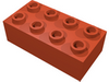 Набор LEGO Brick 2 x 4 Minitalia with Centre Cross Supports, Черный