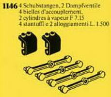 Набор LEGO 1146 Pushrods, Cylinder Housings