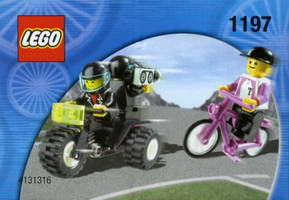 Набор LEGO 1197 Telekom Race Cyclist and Television Motorbike