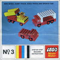 Набор LEGO 3-8 Mini-Wheel Model Maker No. 3