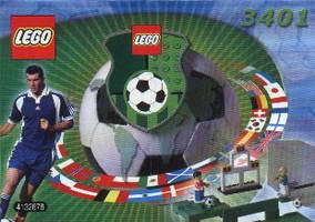 Набор LEGO 3401-2 Shoot 'n' Score - with ZIDANE / Adidas Minifig