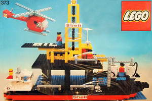 Набор LEGO 373 Offshore Rig with Fuel Tanker