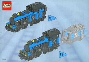 Набор LEGO 3741 Large Locomotive (base unit without color trim elements)