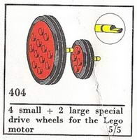 Набор LEGO 404-3 Wheels for Motor (The Building Toy)