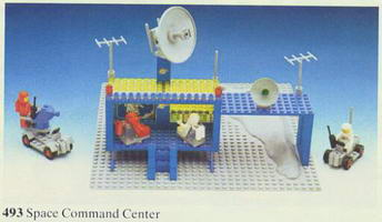 Набор LEGO 493-3 Space Command Center (Craterplate version)