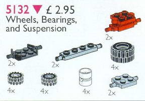 Набор LEGO 5132 Wheels, Bearings and Suspension