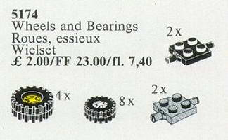 Набор LEGO 5174 Wheels and Bearings