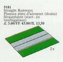 Набор LEGO 5181 Runways, Straight (Airport)