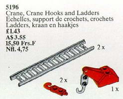 Набор LEGO Crane, Crane Hooks and Ladders