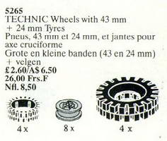 Набор LEGO 5265 Large Tires and Wheels / TECHNIC Wheels with 43 mm + 24 mm Tyres