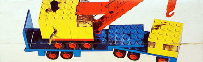 Набор LEGO 680 Low-Loader and Crane