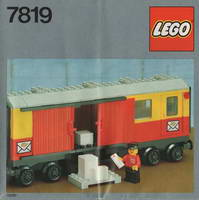 Набор LEGO 7819 Postal Container Wagon Covered