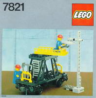 Набор LEGO 7821 Overhead Gantry and Lighting Maintenance Wagon