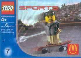 Набор LEGO 7921 McDonald's Sports Set Number 7 - Gray Vest Skateboarder