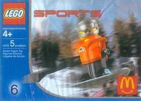 Набор LEGO 7922 McDonald's Sports Set Number 6 - Orange Vest Snowboarder