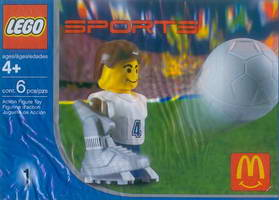 Набор LEGO 7923 McDonald's Sports Set Number 1 - White Soccer Player No.4