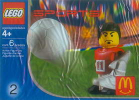 Набор LEGO 7924 McDonald's Sports Set Number 2 - Red Soccer Player No.11
