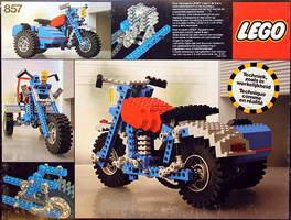 Набор LEGO 857 Motorcycle with sidecar