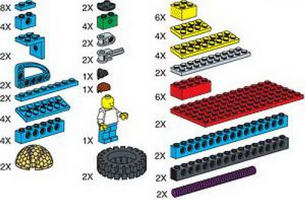 Набор LEGO 970673 Special Elements for ROBO Technology Set