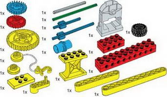 Набор LEGO 970680 Special Elements for Early Simple Machines Set
