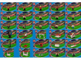 Набор LEGO cokesoccer Japanese Coca-Cola Soccer collection sets 4443 thru 4472