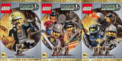 Набор LEGO rrminifigs Rock Raider Minifig Packs 3-Pack