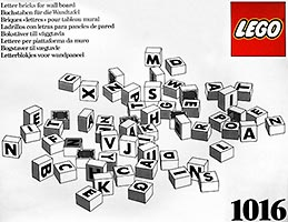 Набор LEGO 1016 Letter Bricks for Wall Board