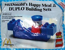 Набор LEGO 1919 McDonald's Happy Meal & Duplo Building Sets polybag