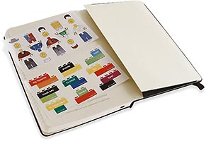 Набор LEGO 5001126 Moleskine notebook black brick, ruled, large
