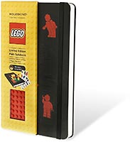 Набор LEGO 5001129 Moleskine notebook red brick, plain, large