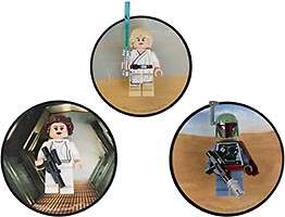 Набор LEGO 5002825 Luke Skywalker, Princess Leia and Boba Fett Magnets