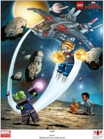 Набор LEGO 5005877 Captain Marvel Art Print