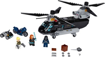 Набор LEGO 76162 Black Widow's Helicopter Chase