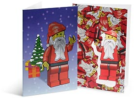 Набор LEGO 852133 Santa Holiday Cards