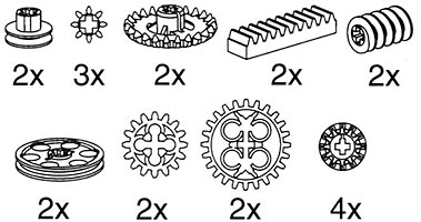 Набор LEGO 9900 Small Gear Wheels