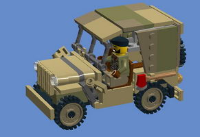 Набор LEGO MOC-10021 Willys Jeep with detachable roof