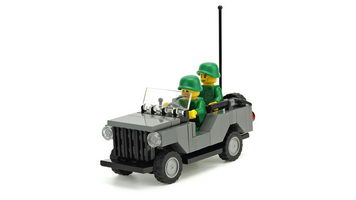 Набор LEGO MOC-10150 Army command car