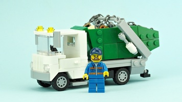 Набор LEGO MOC-10313 Waste container transporter