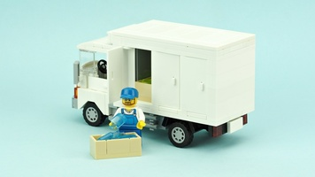 Набор LEGO MOC-10494 Ice cream delivery truck