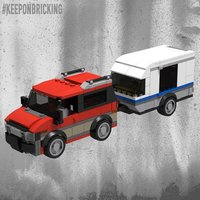 Набор LEGO MOC-10884 RED Van and Caravan