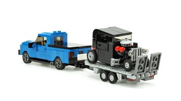 Набор LEGO MOC-10886 Car Trailer for small Hot Rod
