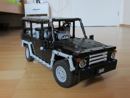 Набор LEGO MOC-11682 Safari Jeep central dif lock