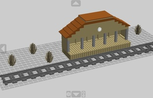 Набор LEGO MOC-12404 Train Station