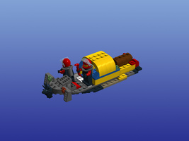Набор LEGO MOC-12787 60092-boat carry a treasure chest
