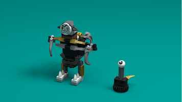 Набор LEGO MOC-12806 41536 - Edward Mixelhands and his pet