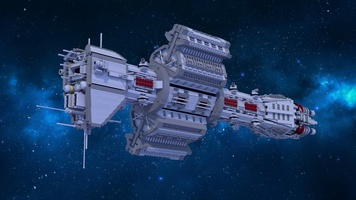 Набор LEGO MOC-12902 EAS Agamemnon from Babylon 5